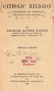 Cover of: Catholic religion by Charles Alfred Martin