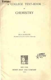 Cover of: A college text-book of chemistry