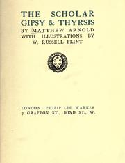 Cover of: The scholar gipsy & Thyrsis by Matthew Arnold