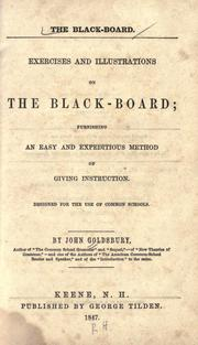 Cover of: The black-board