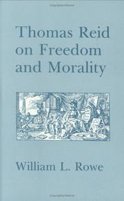 Cover of: Thomas Reid on freedom and morality