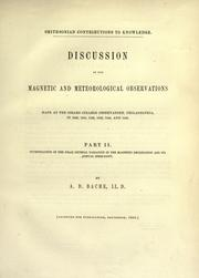 Discussion of the magnetic and meteorological observations made at the Girard College Observatory, Philadelphia by Alexander Dallas Bache