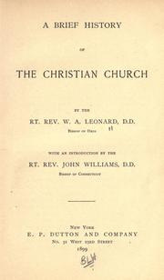 Cover of: A brief history of the Christian church