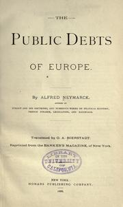 Cover of: The public debts of Europe
