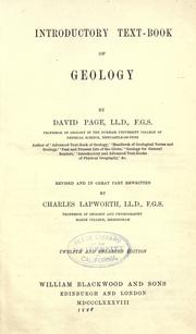Cover of: Introductory text-book of geology