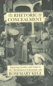Cover of: The rhetoric of concealment