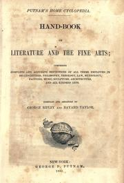 Cover of: Hand-book of literature and the fine arts ..
