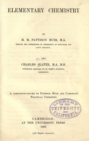 Cover of: Elementary chemistry