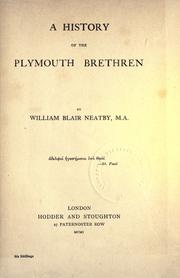 A history of the Plymouth Brethren by William Blair Neatby