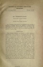 On fermentation by Taylor, Alonzo Englebert