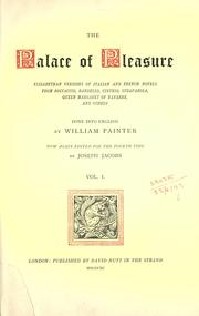 The palace of pleasure by William Painter