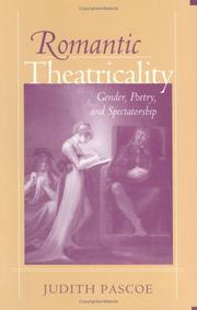 Cover of: Romantic theatricality