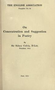 Cover of: On concentration and suggestion in poetry