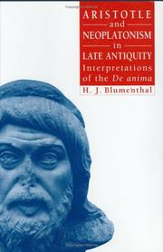 Cover of: Aristotle and Neoplatonism in late antiquity