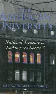 Cover of: The American University