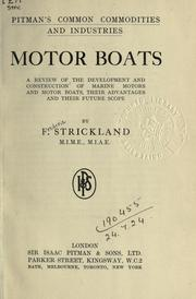 Cover of: Motor boats