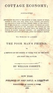 Cottage economy by William Cobbett