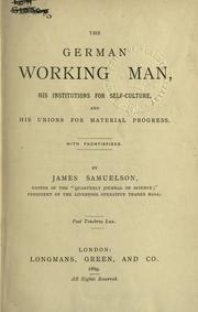 Cover of: The German working man
