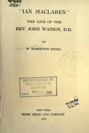 "Cover of: ""Ian Maclaren"": life of the Rev. John Watson, D.D."
