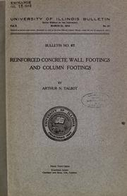 Cover of: Reinforced concrete wall footings and column footings