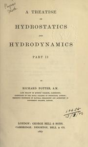 Cover of: Treatise on hydrostatics and hydromechanics | Richard Potter