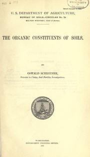 Cover of: The organic constituents of soils