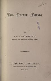 Cover of: Two college friends