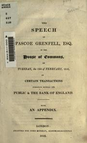 Cover of: The speech