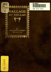 Cover of: Ballads of Hellas
