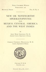 Cover of: New or noteworthy spermatophytes from Mexico, Central America and the West Indies
