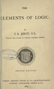 Cover of: The elements of logic