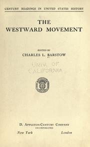 Cover of: The westward movement by Charles Lester Barstow
