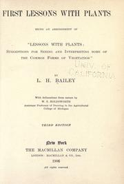 Cover of: First lessons with plants