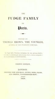 The Fudge family in Paris by Moore, Thomas