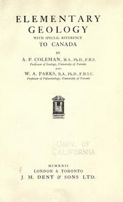Cover of: Elementary geology with special reference to Canada