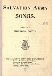 Cover of: Salvation Army songs |