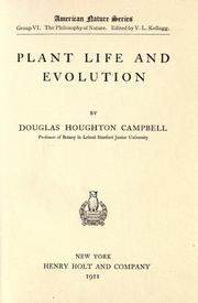 Cover of: Plant life and evolution