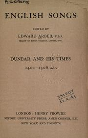 Cover of: English songs