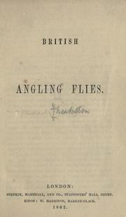 Cover of: British angling flies