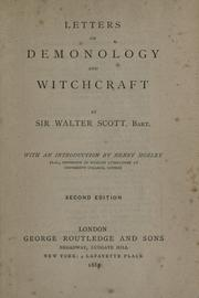 Letters on demonology and witchcraft by Sir Walter Scott