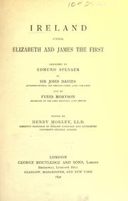 Cover of: Ireland under Elizabeth and James the First