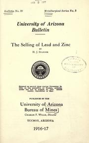 Cover of: The selling of lead and zinc