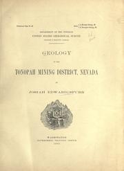 Cover of: Geology of the Tonopah mining district, Nevada