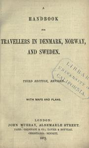 Cover of: A handbook for travellers in Denmark, Norway, and Sweden