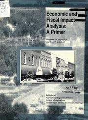 Cover of: Economic and fiscal impact analysis