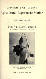 Cover of: Tulip blossom blight
