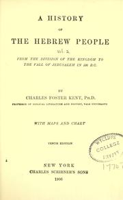 Cover of: A history of the Hebrew people
