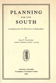 Cover of: Planning for the South
