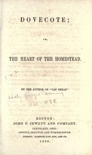 Cover of: Dovecote, or, The heart of the homestead