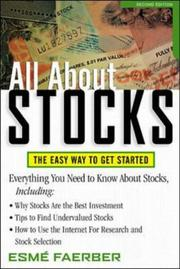 Cover of: All About Stocks | Esme Faerber